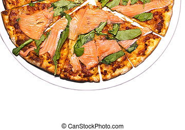 Pizza with Salmon Slice,