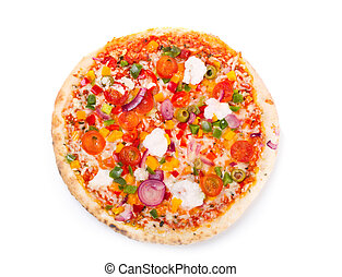 pizza with vegetables