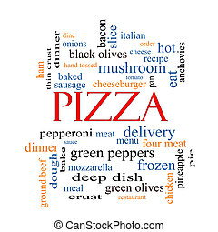 Pizza Word Cloud Concept