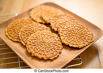 Pizzelle cookie