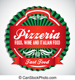pizzeria, etikett