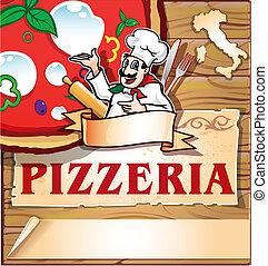 pizzeria, fond