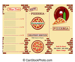Pizzeria restaurant leaflet - Pizzeria - take away Italian...