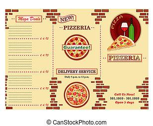 Pizzeria restaurant leaflet - Pizzeria - take away Italian...