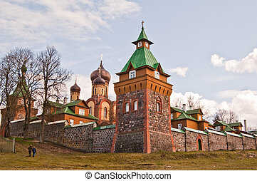 pjuhtitse., monasterio, hembra, estonia