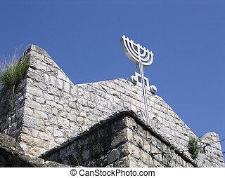 pkiin, sinagoga, viejo, galilea, 2004