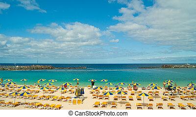 pláž, amadores, gran canaria