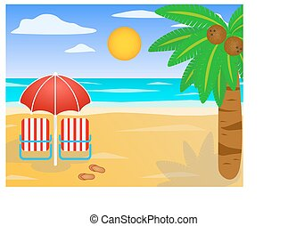 pláž, do, ta, moře