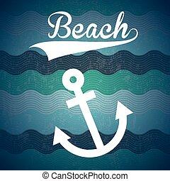 pláž, ikona