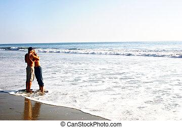 pláž, láska