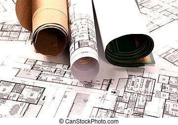 plán, architektura