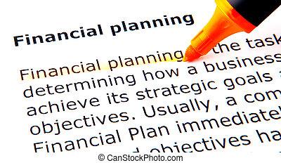 plánování, finanční machinace