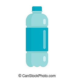 plástico, apartamento, ícone, garrafa, água