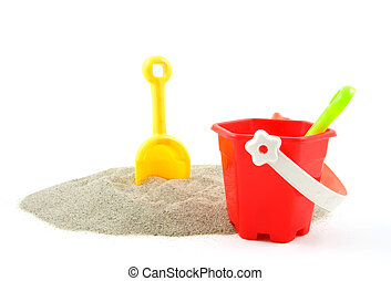 plástico, brinquedos, para, praia, e, férias