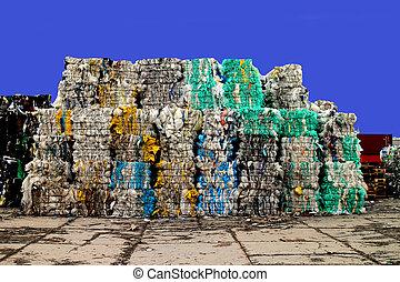 plástico, desperdício