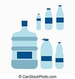 plástico, garrafa água