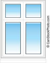 plástico, janela, em, cor