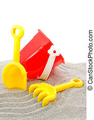 plástico, jogo, brinquedos, para, praia