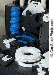 plástico, máquina, parts., vertical, imagel