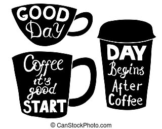 plástico, papel, cups., café chá