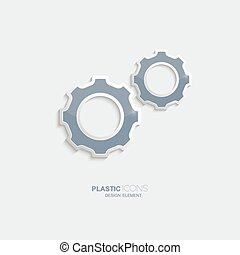 plástico, símbolo, armando, ícone