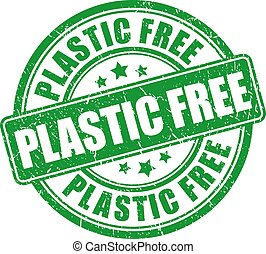plástico, selo, livre