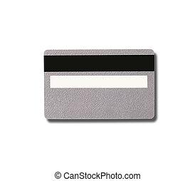 plástico, vacío, magnético, tarjeta, plata, raya