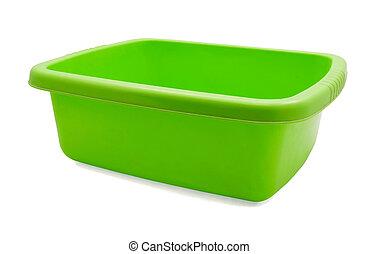 plástico, washbowl