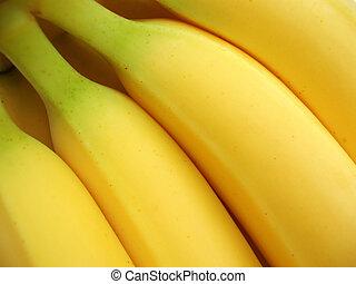 plátanos, amarillo, ramo