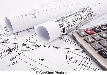 Pläne, architektonisch