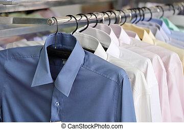 pléd, kiskereskedelem, mens, ing, hirdetmények, bolt
