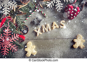 pl�tzchen, weihnachten, hintergrund