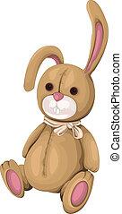 plüsch, kaninchen