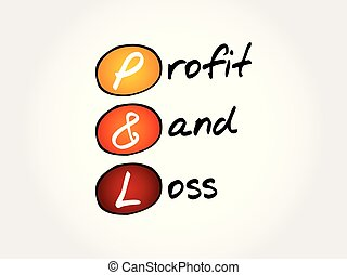 P&L - Profit and Loss acronym
