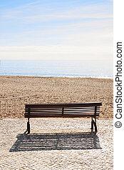 plaża., ława