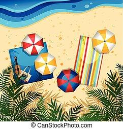 plaża, antenowy prospekt