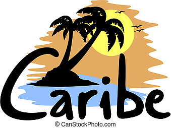 plaża, caribe