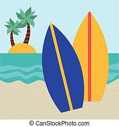 plaża, ikona