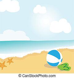 plaża, krajobraz