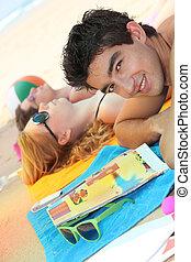 plaża, młodzież