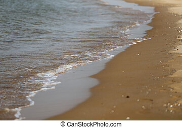 plaża, piaszczysty, morze