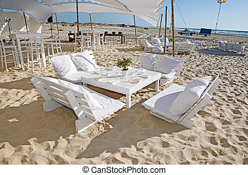plaża, przyjęcie, ślub