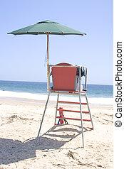 plaża, stać
