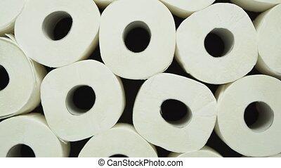 placé, fond, rouleaux, noir, papier hygiénique