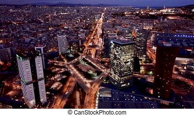 plac, europa, antenowy prospekt, sceniczny, od, barcelona, ...