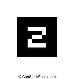 plac forma, czarnoskóry, połączony, litera, ikona, logo, z
