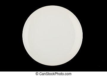 placa blanca, en, negro