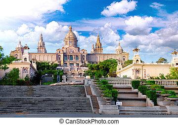 Placa De Espanya, Barcelona - Placa De Espanya, the National...