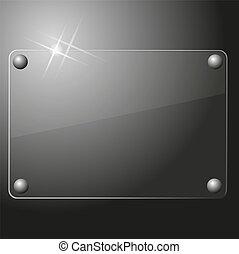 placa de vidrio, plano de fondo