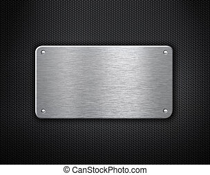 placa, industrial, metal, remaches, plano de fondo
